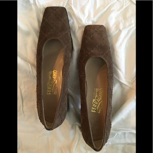 Ferragamo block heel shoes